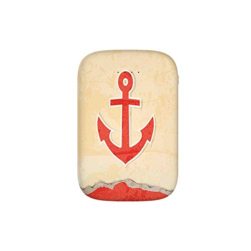 Anchor Chain Illustration Marine Life Navy Item Mooring Vessel Hook into The Seabed Portable Charger 10000mAh Power Bank External Battery Backup Pack Fast Charger for iPhone,Samsung Galaxy and More