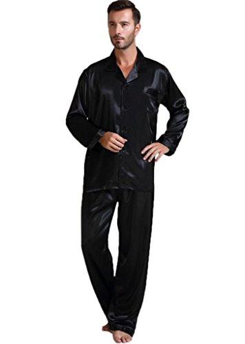 mas Set Sleepwear Loungewear Black 4XL ()