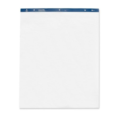 Wholesale CASE of 5 - Bus. Source Standard Easel Pad-Standard Easel Pads, Plain, 27''x34'', 50 Sheets, 4/CT, White by BSN