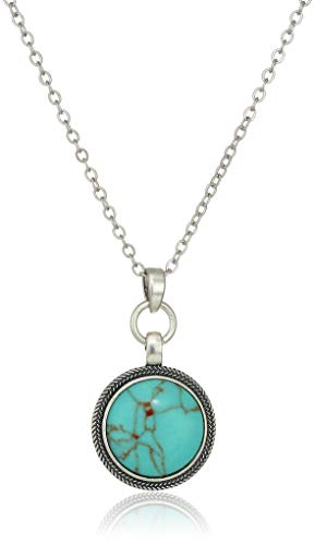 Reversible Jewelry - Lucky Brand Women's Round Reversible Pendant Necklace, Silver, One Size