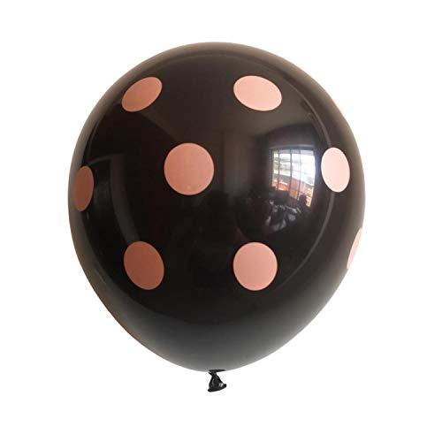 100Pcs 12 Inch Orange Black Polka Dot Halloween Decorations Latex Balloon Party Supplies Ballon Iatable Helium Air Balls,Blue,100Pcs