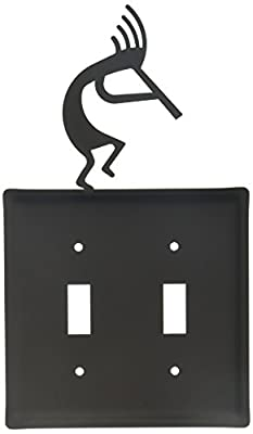 Village Wrought Iron 8 Inch Kokopelli Double Switch Cover