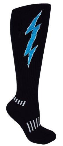 MOXY Socks Knee-High Lightning Electric Insane Bolt Deadlift Socks (Black)