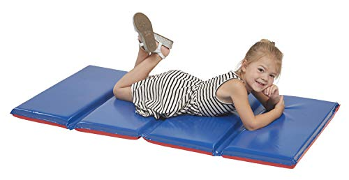 ECR4Kids Premium 4Fold Daycare Rest Mat, Blue and Red (2
