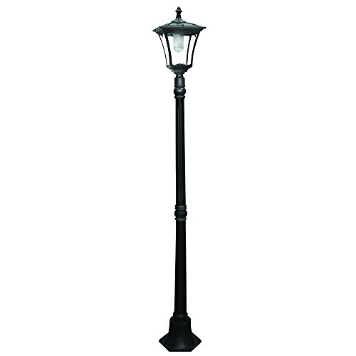 outdoor pole lamps outdoor patio paradise by sterno home castaluminum solarpowered led streetlightstyle outdoor light street lamp post outdoor amazoncom