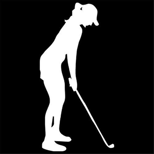 Pokewin 2pcs Fashion Women Golfers Car Accessories Decal Wall Home Glass Window Door Laptop Auto Truck Vinyl - Glass Golfer Any