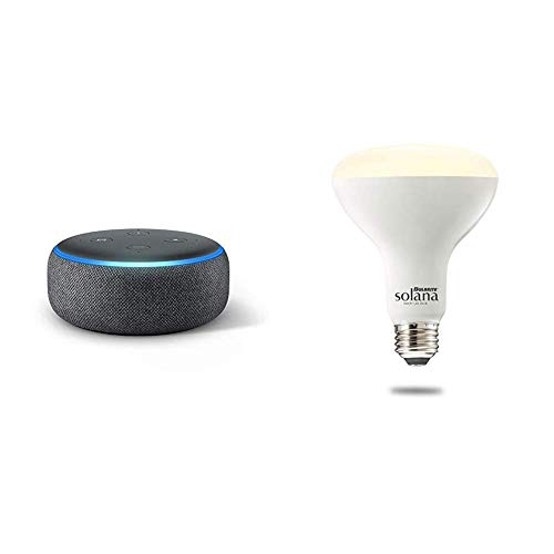 Echo Dot (3rd Generation) – Charcoal with 1 Bulbrite Solana Ceiling Smart Bulb