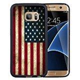 img - for Galaxy S7 Edge Case,S7 Edge Case,American Flag Case for Samsung Galaxy S7 Edge - TPU Black book / textbook / text book