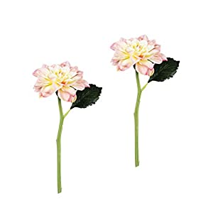 "Sullivans Set of 2 Artificial Pink Blush Dahlia Flower Stems, 19.5"" 51"