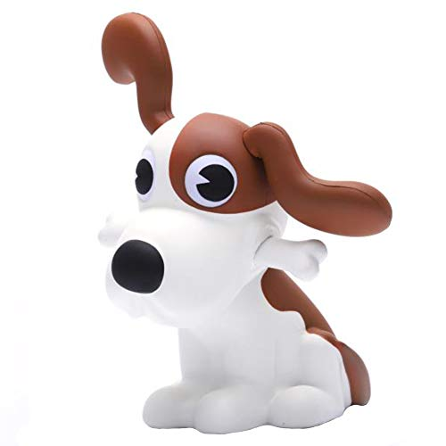 Sinofun 10 Inch Jumbo DIY Dog Squishy, with Detachable Ears and Bone, Giant Animal Squishies Package, Slow Rising Stress Reliever Squeeze Toys for Party Favors Birthday Gifts