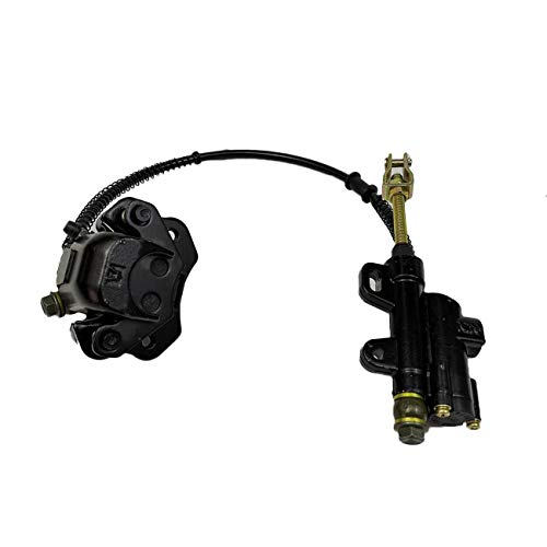 INNOGLOW Rear Brake Assembly Master Cylinder Caliper for 50cc 70cc 90cc 110cc 125cc Chinese ATV Quad Off-Road Motorcycle Scooter (Black)
