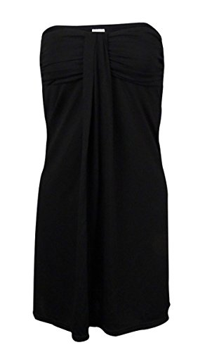 Hula Honey Womens Beach Sleeveless Dress Swim Cover-Up Black S