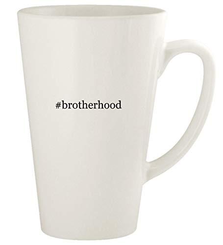 #brotherhood - 17oz Hashtag Ceramic Latte Coffee Mug Cup, White
