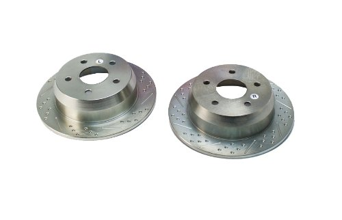 BAER 05119-020 Sport Rotors Slotted Drilled Zinc Plated Rear Brake Rotor Set - Pair