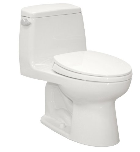 Eco UltraMax ADA Compliant Elongated Toilet with SoftClose Seat Finish: Colonial White, Trip Lever Orientation: Left-Hand, ADA Compliant: No