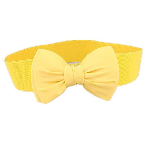 Bande Ceinture Yellow Mélange Décoration Pour De Femmes Zkpmjh Avec Élastique Taille Mode Jupe Large Ceintures rxdBCoeW