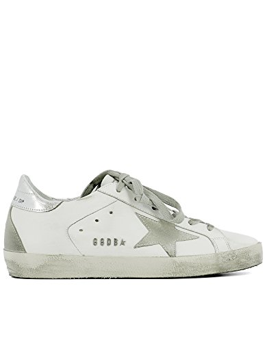 GOLDEN GOOSE WOMEN'S GC0WS590W77 WHITE LEATHER SNEAKERS