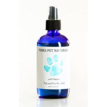 100% Natural Flea and Tick Repellent Spray for Dogs and Puppies, 8 oz, for Flea and Tick Prevention, Treatment, and Control. Effective, All-Natural and ...