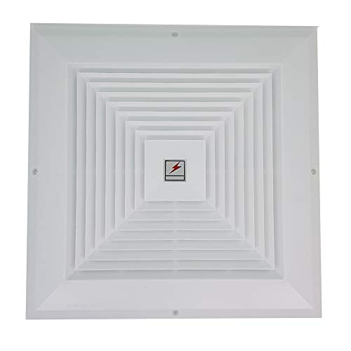 CLAIRLA - Return Air Flow Reinforced Plastic Fan Grille, Sidewall and Ceiling, Vent HVAC Duct grilles Cover Diffuser Square Decorative Covers 11.8