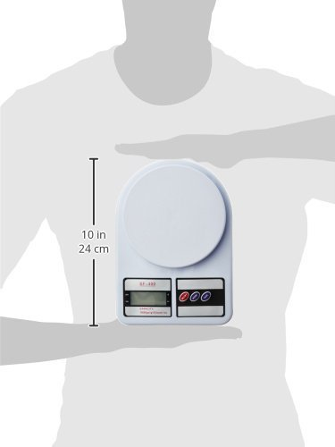 Mokoto Electronic Kitchen Digital Weighing Scale, Multipurpose (White, Measures Upto 10 Kg)