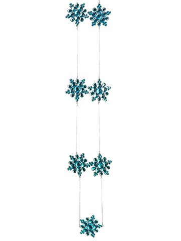 Silk Plants Direct Snowflake Garland (Pack of 6)