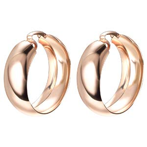 Yoursfs Clip on Hoop Earrings for Women Gold Tone Large Circle Earrings