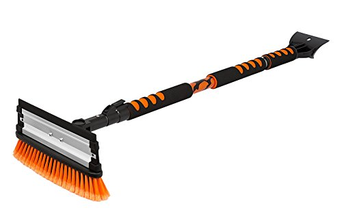 "Snow MOOver 58"" Extendable Snow Brush with Squeegee & Ice Scraper 