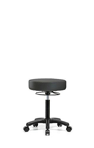 Burgundy Vinyl Nylon Base Casters LabTech Seating LT46186 Medium Bench Mini Stool