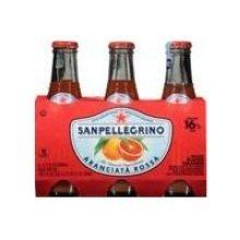 San Pellegrino, Water Sparkling Mineral Aranciata Rossa, 6.75 Fl Oz, 6 Pack