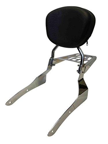 - Sissy Bar Backrest & Luggage Rack for 2002-2009 Honda VTX1300C VTX1800C VTX1800F - Contoured