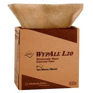 Wypall L20 White Wipes, 9.1'' X 16.8'', Pop-Up Box, 10 Packs/Case