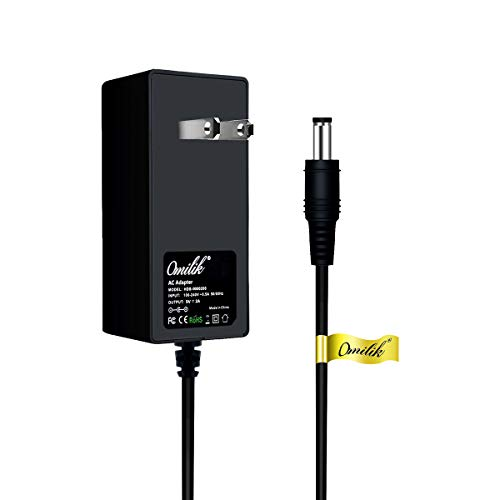 Omilik 9V AC to DC Adapter Compatible with ProForm Upright Bikes and Hybrid Trainer Elliptials NordicTrack GX 2.5 GX 2.7 GX 4.5 GX 4.7 E 5.9 Power Supply Cord- (Note: 9V NOT 6V)-6 Feet Long