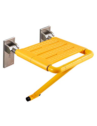 Shower Steel Stainless Seats (Kugga Wall Mount Shower Bath Seat Shower Bench Folding Seat - Nylon/Stainless Steel)