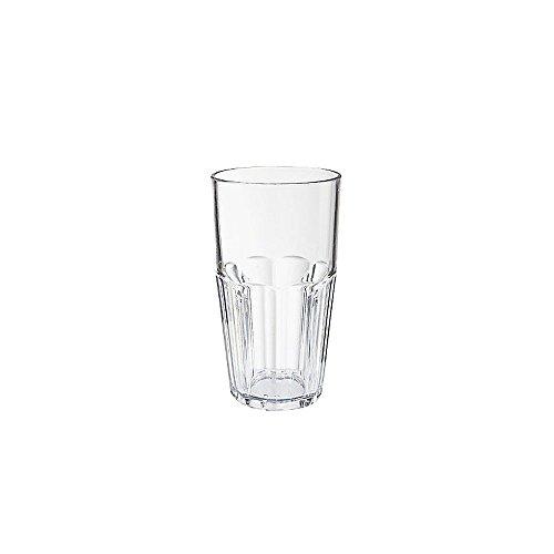ama Clear SAN Plastic 22 Oz Beverage Glass - Dozen (Bahama Tumbler)