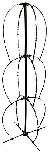 Scroll Trellis Stack Trellis Premium Extra Wide 20 Inch Wide and 58 Inch Tall Heirloom Tomato Plant cage Lead, Mercury, BPA-Free, Pole Bean Trellis or Pea Trellis, Mandevilla, Clematis Obelisk (1)