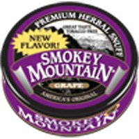 Smokey Mountain Snuff, 5-1 унций Банки - виноградные - освобождению от табачной зависимости, никотин Бесплатные