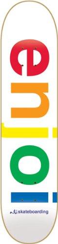 イタリックスカーフスプリット【SPECTRUM WHITE 7.75】ENJOI/エンジョイ スケートボードデッキ/DECK スケボーSK8