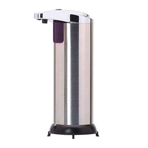 GBB Automatic Hand Touchless Sensor Soap Dispenser Stainless Steel Liquid Infrared Sensor Soap Dispenser for Bathroom or Kitchen 280ml with Waterproof Base