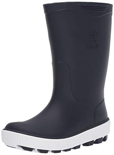 (Kamik Unisex Riptide Rain Boot, Navy/White, 5 M US Big Kid )
