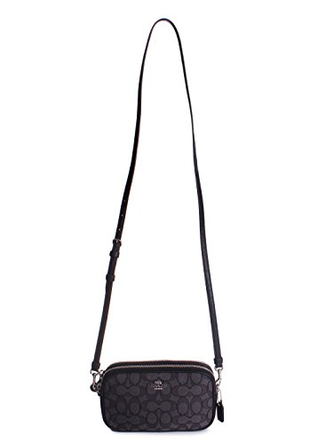 Sv Black Smoke Crossbody COACH Womens Signature Clutch Black IwxaITXqB