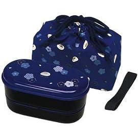 Japanese 2 Tiers Bento Lunch Box with Belt , Bag Chopsticks