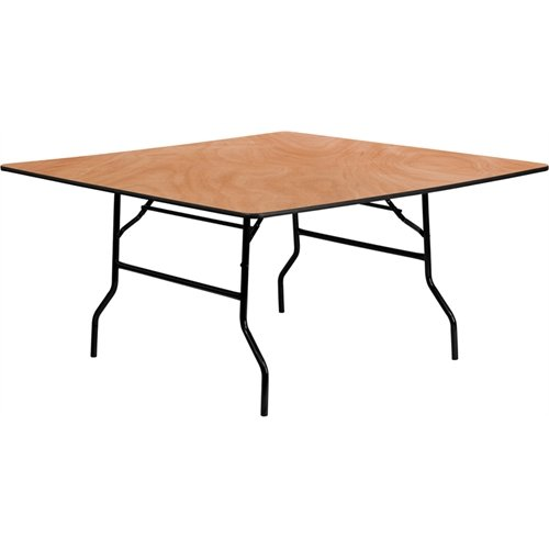 Flash Furniture 60'' Square Wood Folding Banquet Table by Flash Furniture
