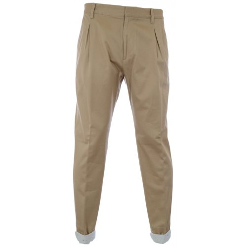 Vivienne Westwood Men's Washed Twill Trouser, Beige, Medium by Vivienne Westwood