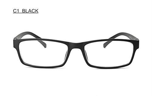 (Diopter 1.0 1.5 2 2.5 3 3.5 4 4.5 5 5.5 6 Fashion Myopia Glasses Shortsighted Eyeglasses Women Men F170,-550(-5.5),C1 BLACK )