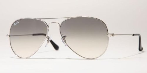 Amazon.com  New   Authentic Ray-Ban RB 3025 003 32 Silver Frame ... 583738a69a45