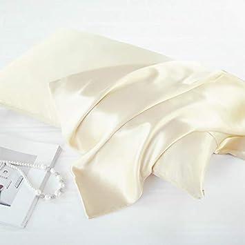 Amazon Com Flc Luxury Satin Pillowcase With Zipper Set Of 2