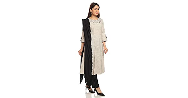 Amazon.com: BIBA - Conjunto de traje de seda de color gris ...
