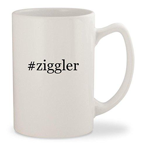 #ziggler - White Hashtag 14oz Ceramic Statesman Coffee Mug Cup Song Coffee Grinder