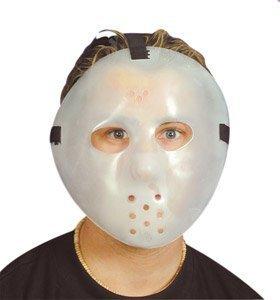 Dark Hockey Mask (Mask Hockey Glow In Dark for Fancy Dress Masquerade Accessory by Pams of Gainsborough)