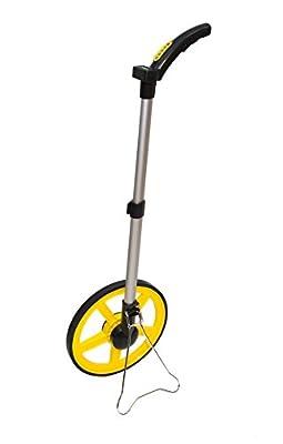 AdirPro - Digital Distance Measuring Wheel - Large Digital LCD Display - 12 Commercial Grade Feet-Inch - FREE Carrying Bag